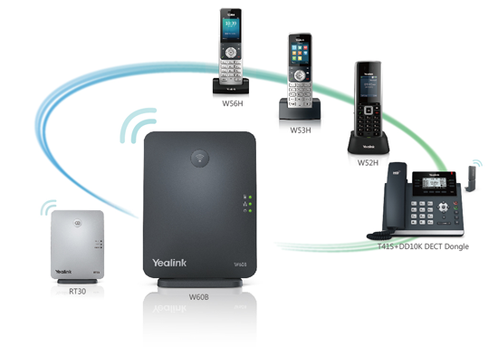 Meet Yealink Wireless DECT Solution -New W53P, New flexibility 3