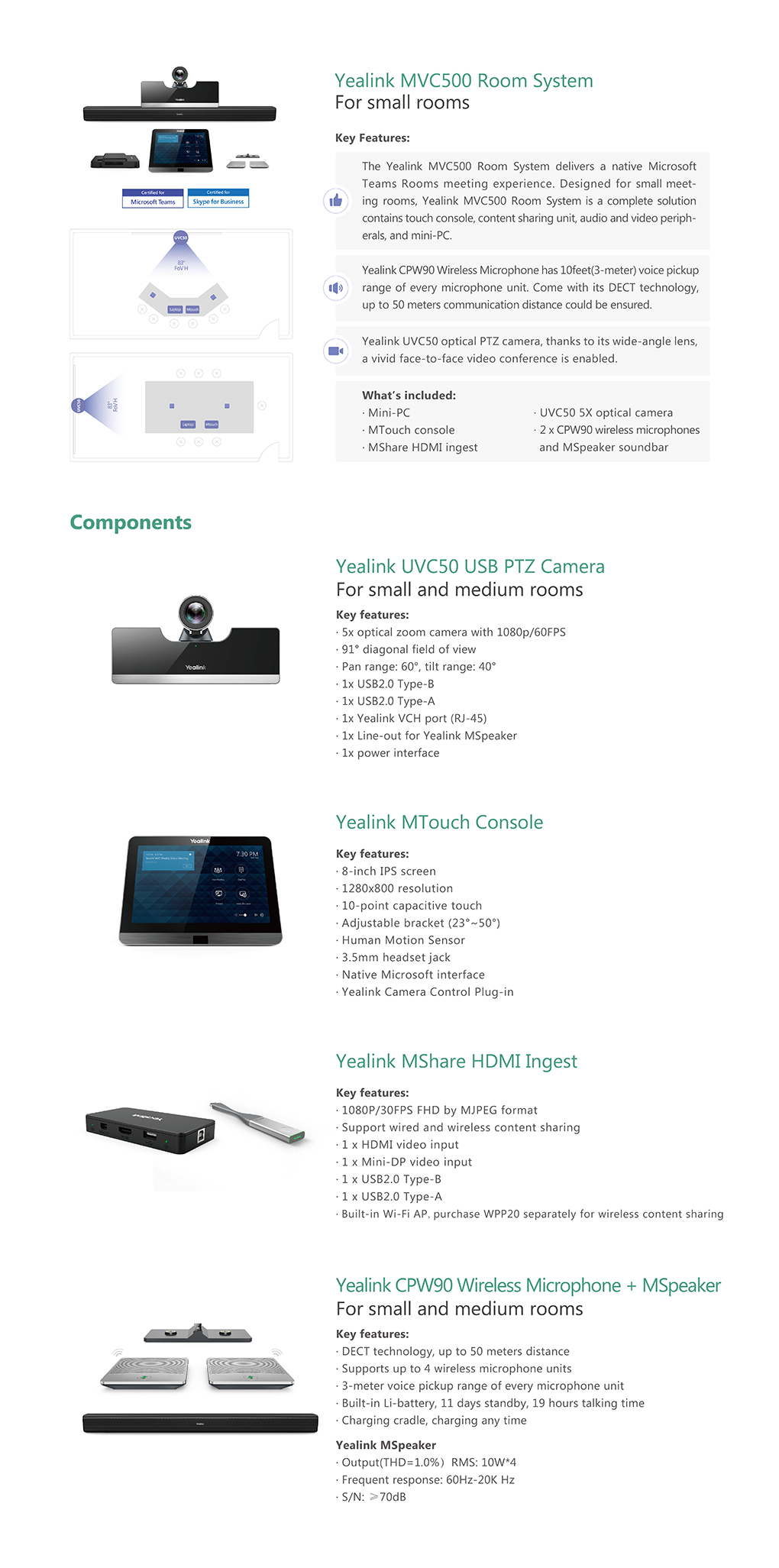 MVC500_Video Devices_Products_Yealink | UC&C terminal