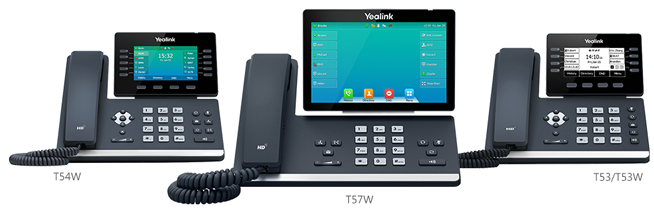 Yealink T5 Prime Business Phones T53, T53W, T54W &T57W Complete