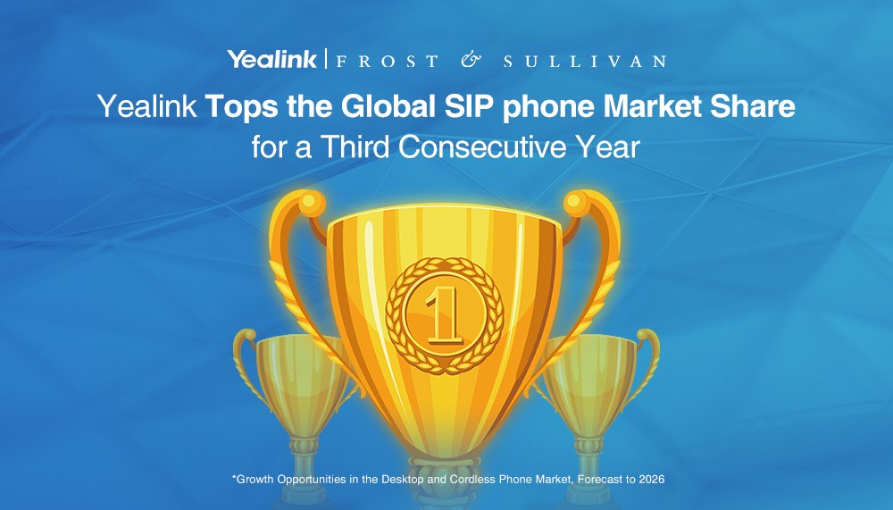 Yealink Tops the SIP phone Market Share for a Third Consecutive Year