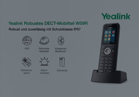 Yealink Ruggedized DECT Handsets W59R
