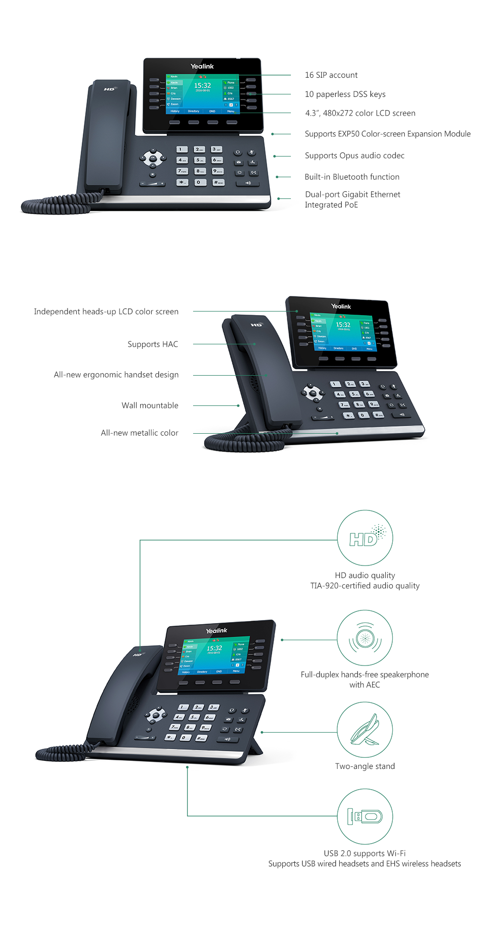 SIP-T54S_T5 Series Phones_Products_Yealink | UC&C terminal