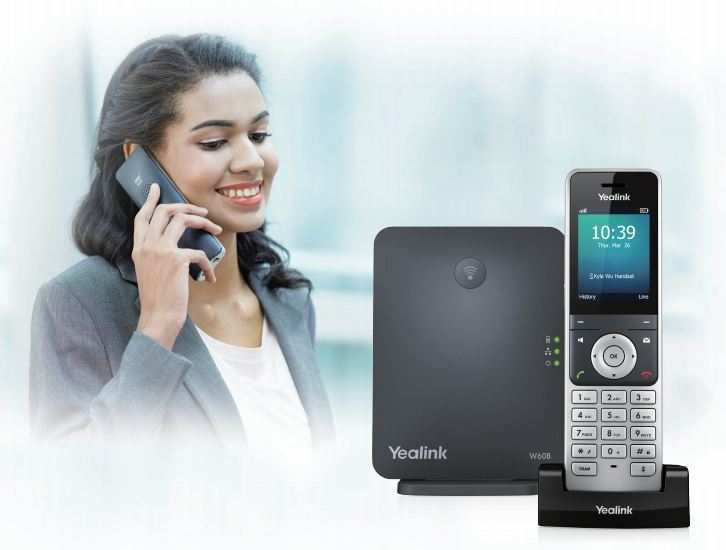Yealink W60P Cordless IP Phone with Base Station 2