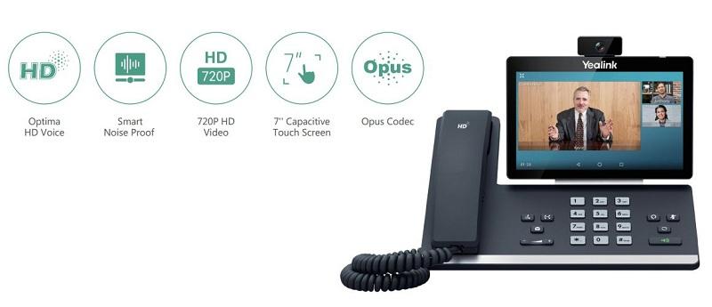 Yealink SIP-T56A Voz y video HD mejorados para una comunicación excepcionalmente clara