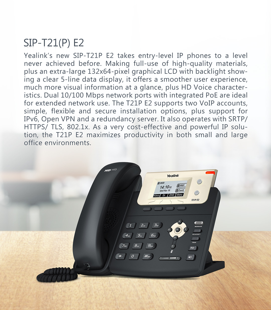 SIP-T21(P) E2_T2 Series Phones_Products_Yealink | UC&C