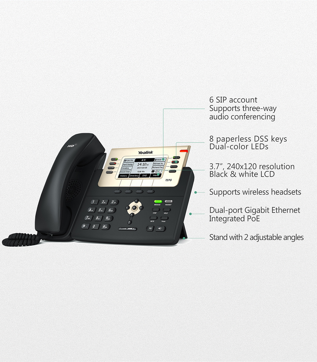 SIP-T27G_T2 Series Phones_Products_Yealink | UC&C terminal, video