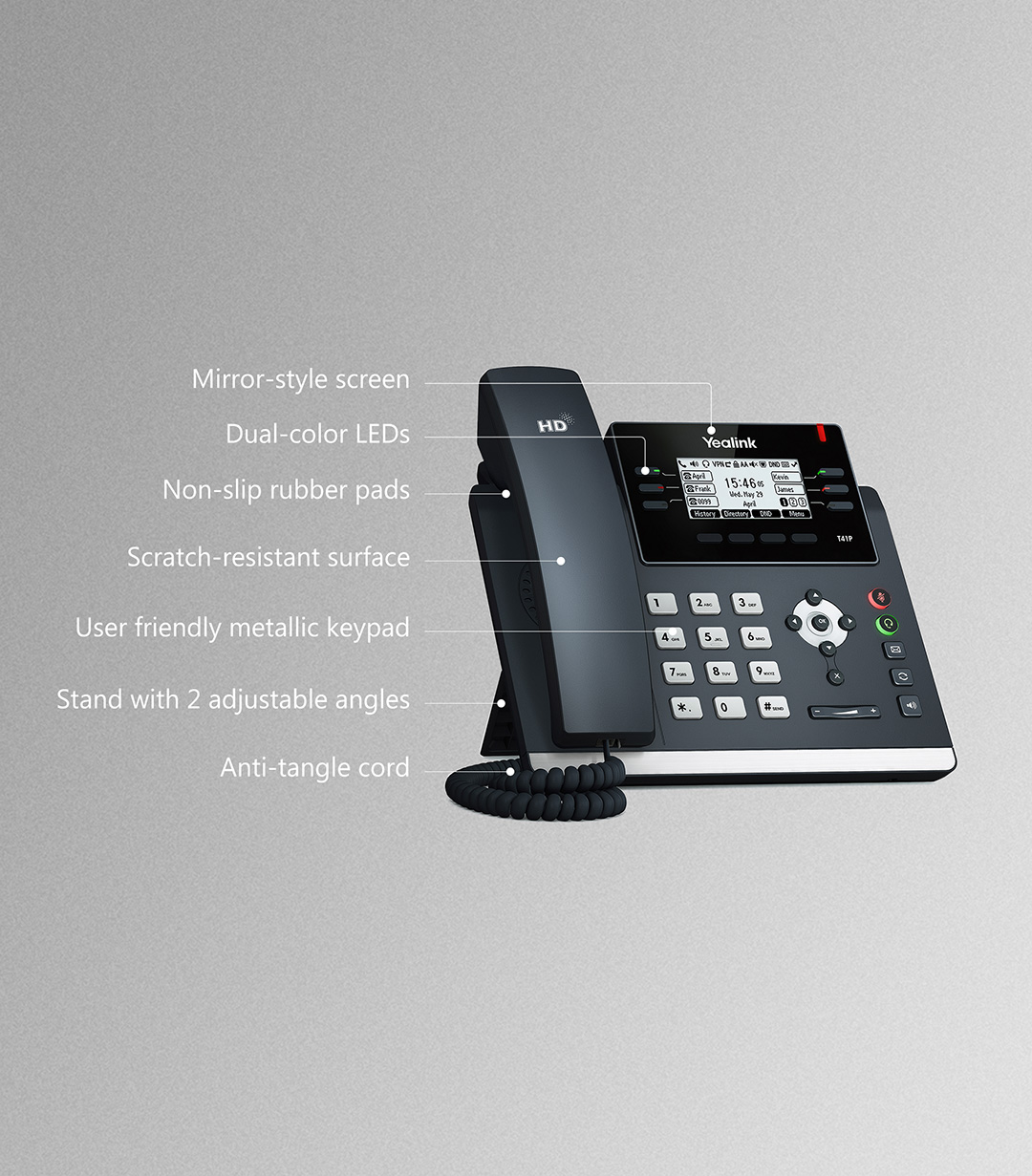 SIP-T41P_T4 Series Phones_Products_Yealink | UC&C terminal