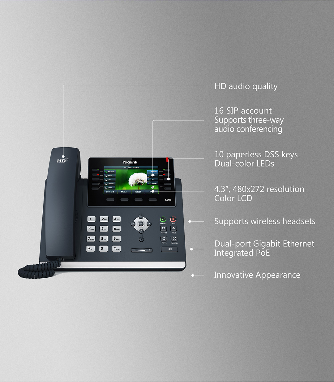 SIP-T46G_T4 Series Phones_Products_Yealink | UC&C terminal, video