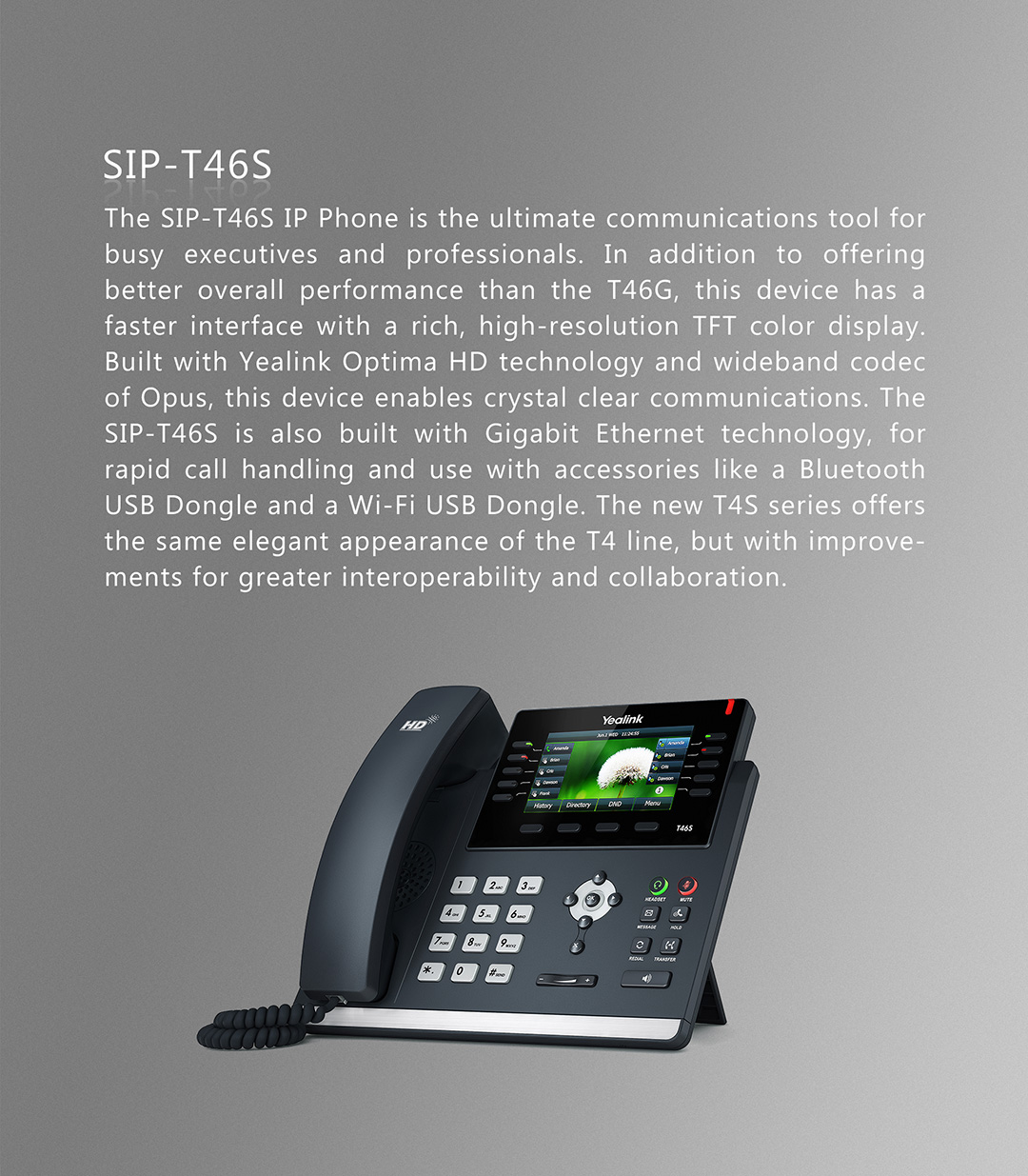 SIP-T46S_T4 Series Phones_Products_Yealink | UC&C terminal, video