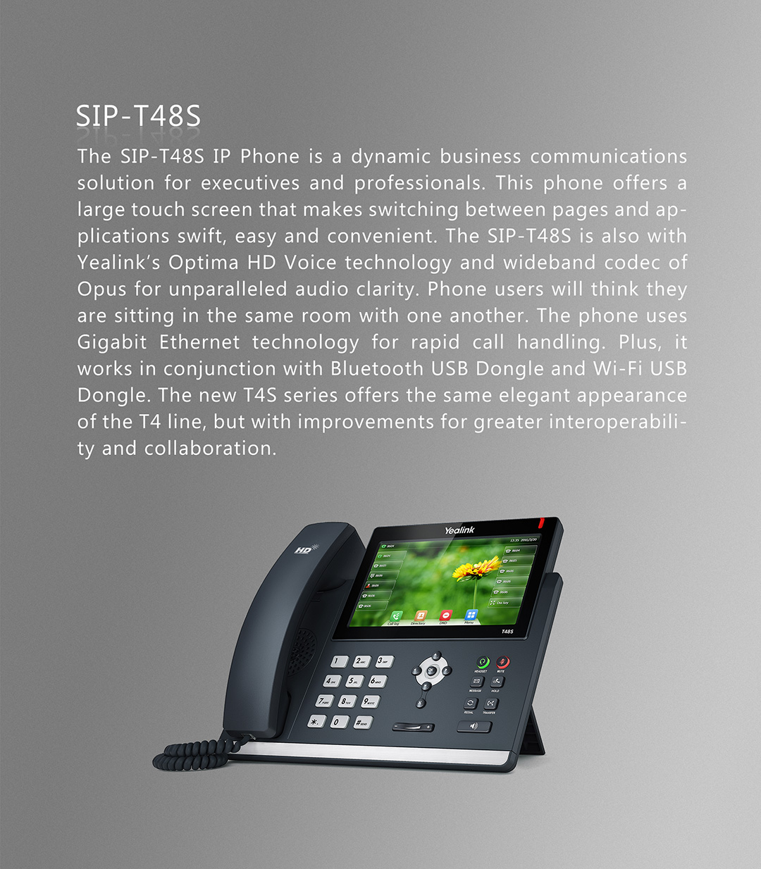 SIP-T48S_T4 Series Phones_Products_Yealink | UC&C terminal, video