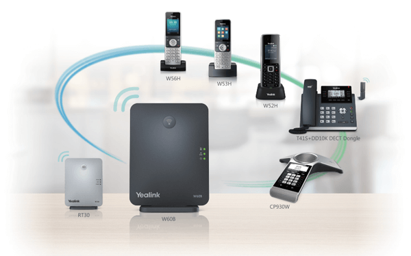 Seamless compatibility with Yealink W60B DECT Base
