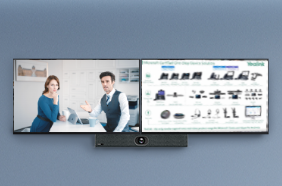 supporting dual-screen(TBC) for video meetings, screen sharing, whiteboard, etc.
