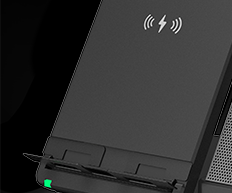 Mobile Phone Charging Stand (Optional) supports Bluetooth connection for mobile devices, it allows multi-device collaboration and transforms the phone into a meeting terminal while charging.