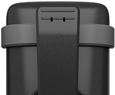 Stable belt clip for carrying the handset while on the move.