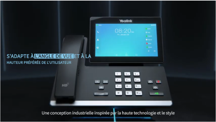 New T5 Business Phone Series 3D Studio Max Video French Version
